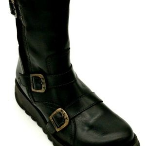 Fly London Buckle Strap Selk Leather Boot 41 New